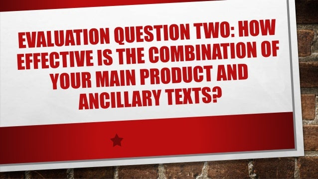 •I FEEL THAT WE DID EFFECTIVELY USE A COMBINATION BETWEEN A MAIN PRODUCT AND THE OTHER ANCILLARY TEXT WORKS WELL THE TEXT ...