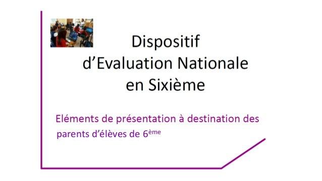 Evaluations 6eme