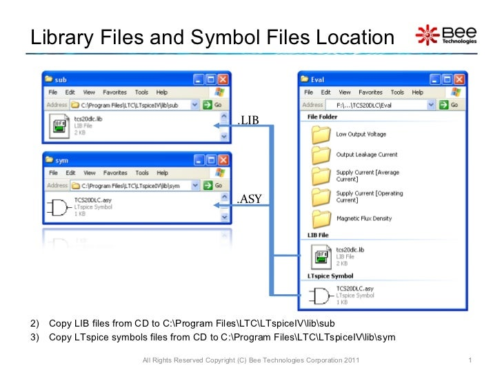 Library Files and Symbol Files Location <ul><li>Copy LIB files from CD to C:Program FilesLTCLTspiceIVlibsub </li></ul><ul>...