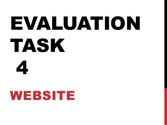 EVALUATION TASK 4 (WEBSITE)