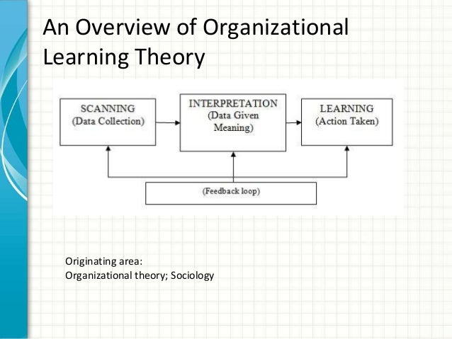 learning theory systems Systems theory is the interdisciplinary study of systems in general, with the goal of elucidating principles that can be applied to all types of systems at all.