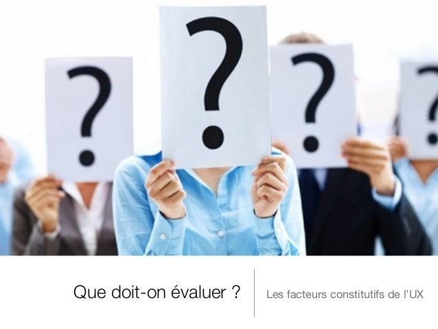 Evaluation de l'Expérience Utilisateur - Carine Lallemand Slide 3