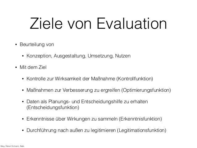 Evaluation von Fortbildungsmaßnahmen Slide 2