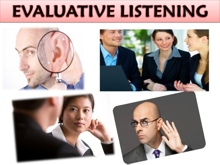 discriminative listening Reflect poorly on your listening skills types of listening discriminative listening  when the listener distinguishes between the verbal and the nonverbal.