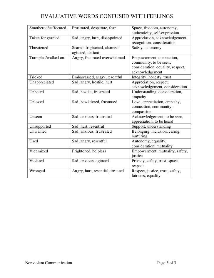 Evaluative Words