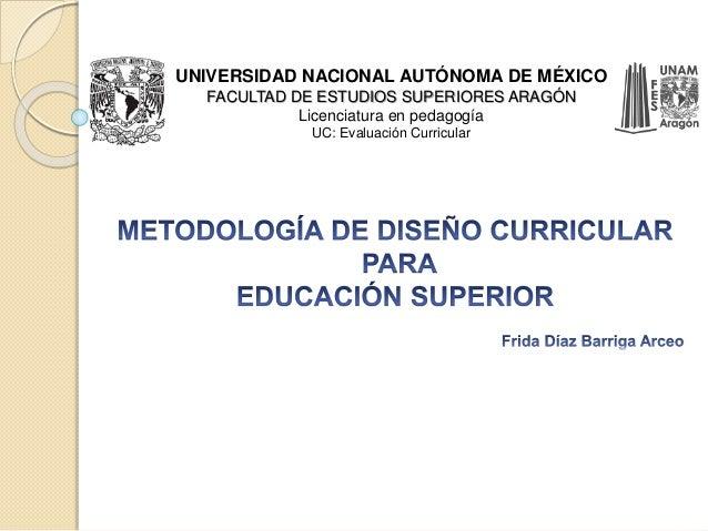 UNIVERSIDAD NACIONAL AUTÓNOMA DE MÉXICO  FACULTAD DE ESTUDIOS SUPERIORES ARAGÓN  Licenciatura en pedagogía  UC: Evaluación...