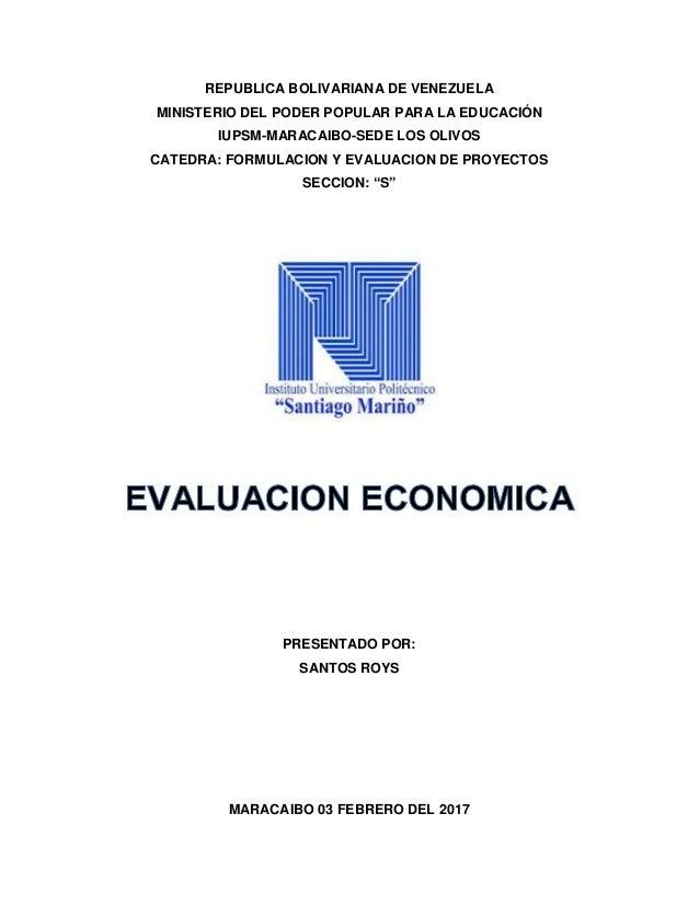 evalucion economica