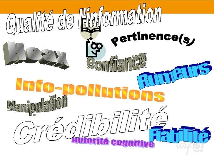 Evaluer la crédibilité d'une ressource sur Internet Slide 2
