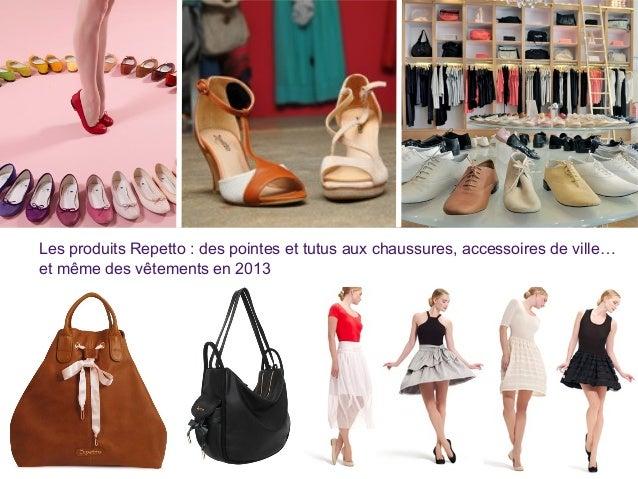 Les produits Repetto : des pointes et tutus aux chaussures, accessoires de ville… et même des vêtements en 2013