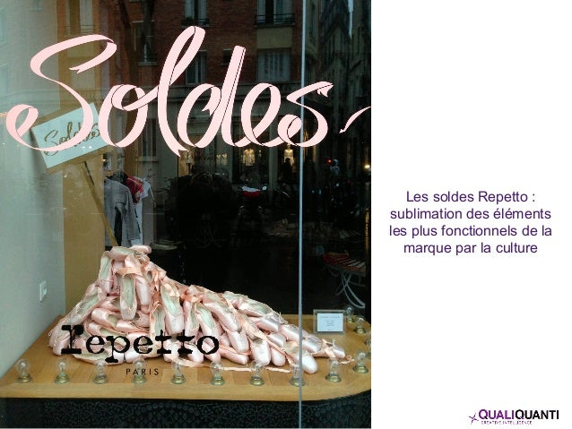 Les soldes Repetto : sublimation des éléments les plus fonctionnels de la marque par la culture