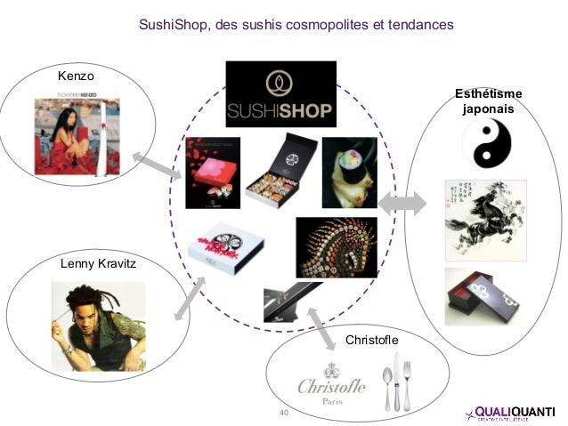 SushiShop, des sushis cosmopolites et tendances Esthétisme japonais Kenzo Lenny Kravitz Christofle 40