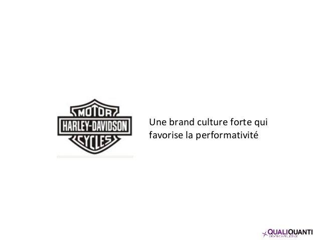 Une brand culture forte qui favorise la performativité
