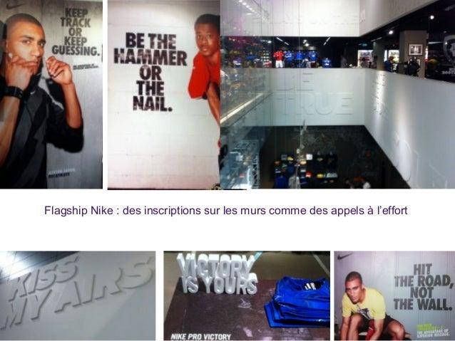 Flagship Nike : des inscriptions sur les murs comme des appels à l'effort