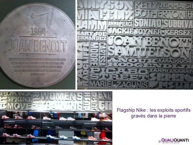 Flagship Nike : les exploits sportifs gravés dans la pierre