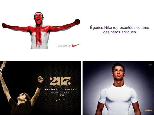 Égéries Nike représentées comme des héros antiques
