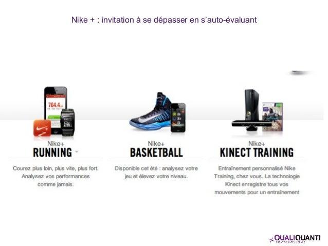 Nike + : invitation à se dépasser en s'auto-évaluant