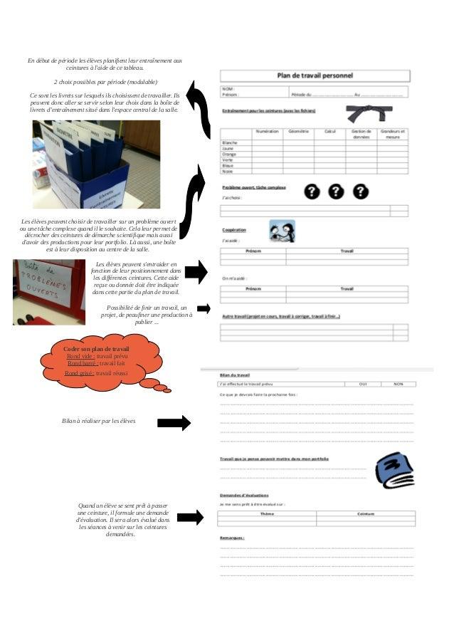 Evaluer par ceintures et protfolio en 6e (mathématiques) Slide 2