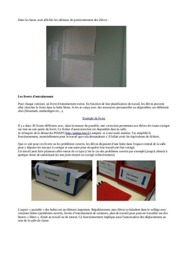 Evaluer par ceintures et protfolio en 6e (mathématiques) Slide 3