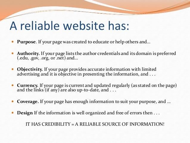 Evaluating Websites Revised