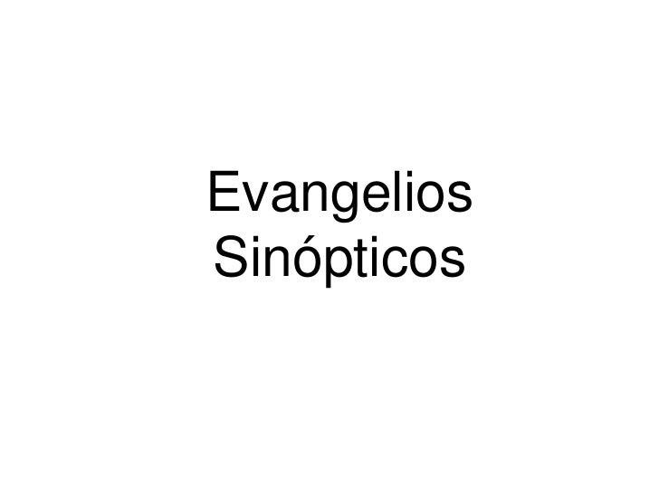 EvangeliosSinópticos