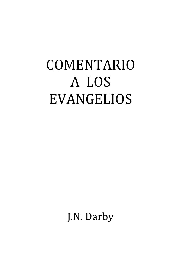COMENTARIO   ALOSEVANGELIOS                                            J.N.Darby