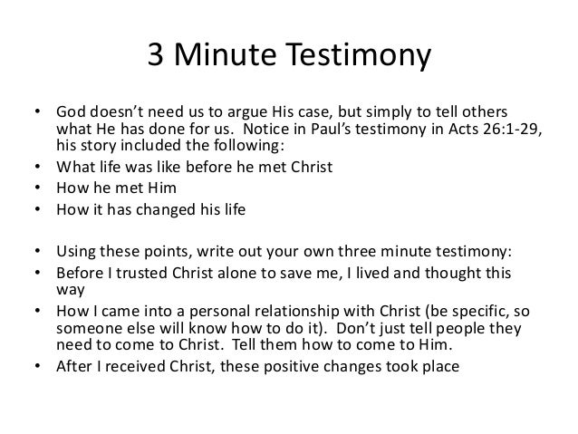 30 Minutes to a Shareable Testimony