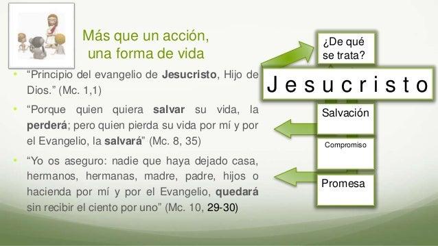 """Más que un acción, una forma de vida • """"Principio del evangelio de Jesucristo, Hijo de Dios."""" (Mc. 1,1) • """"Porque quien qu..."""
