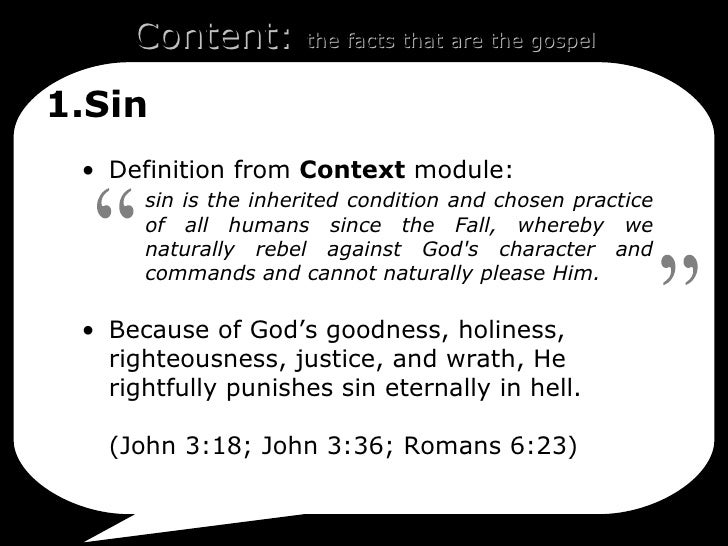 A definition of sin