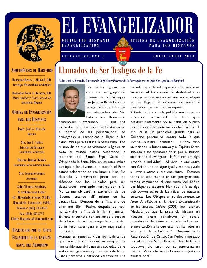 EL EVANGELIZADOR                                            OFFICE FOR HISPANIC                                        OFI...