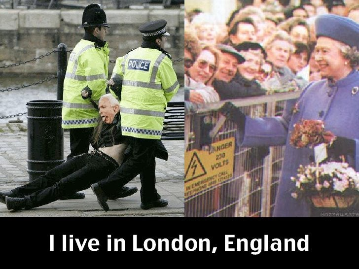 I live in London, England