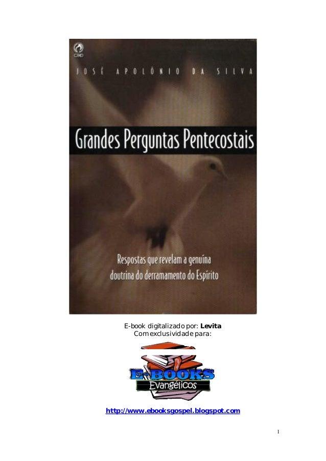 1 E-book digitalizado por: Levita Com exclusividade para: http://www.ebooksgospel.blogspot.com