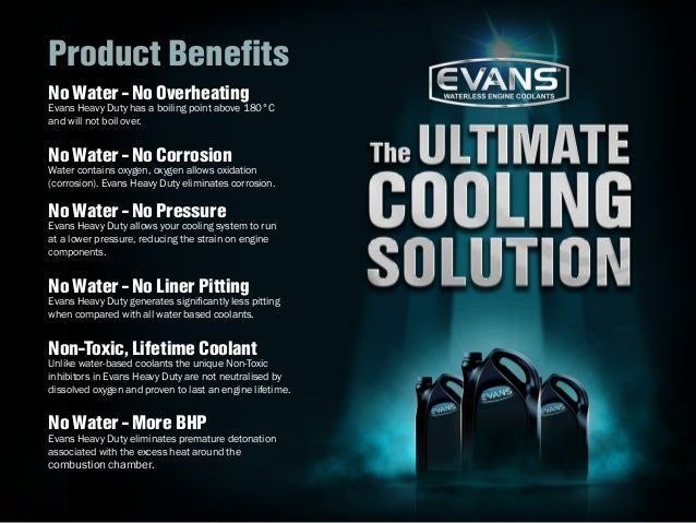 how to use evans waterless coolant