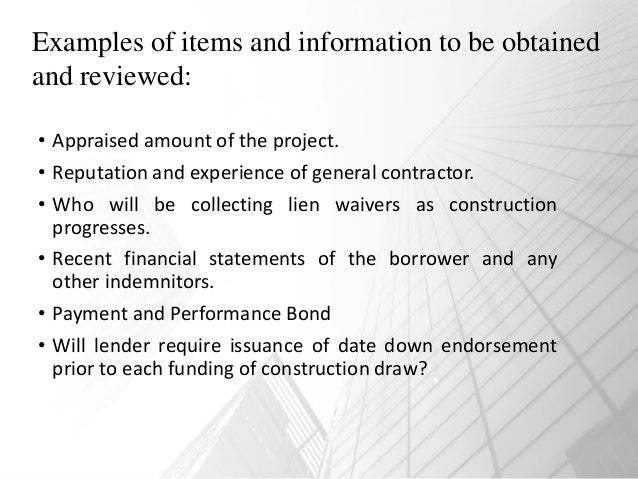 Series 6: Construction Lending