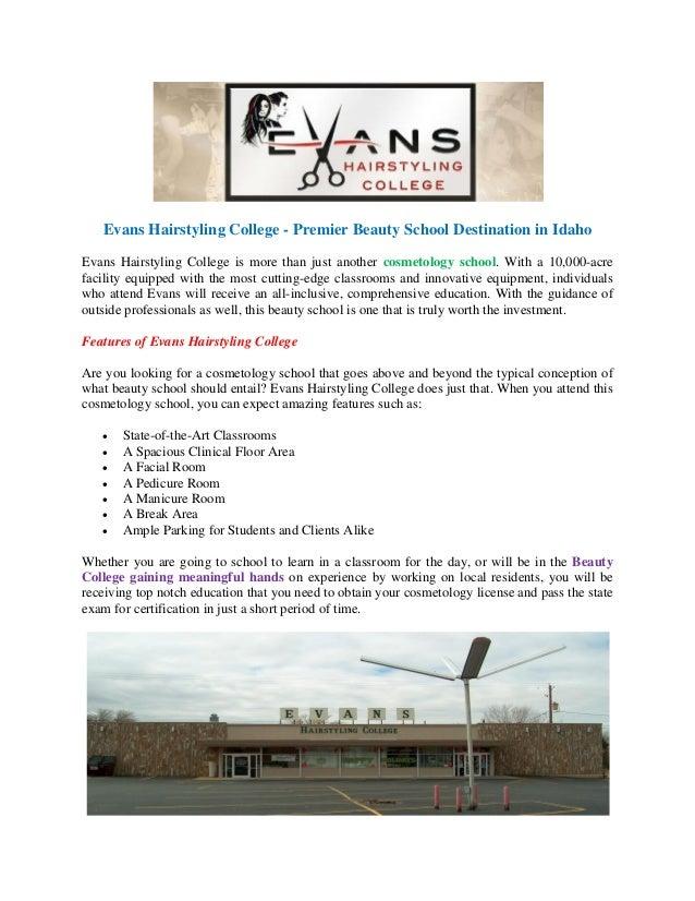 Evans Hairstyling College - Idaho's Premier Online Beauty School