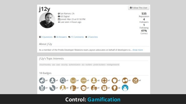 Control: Gamification