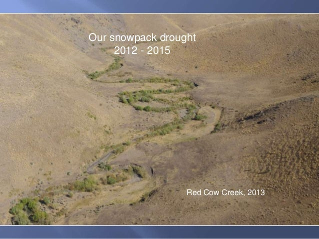 Red Cow Creek, 2013 Our snowpack drought 2012 - 2015
