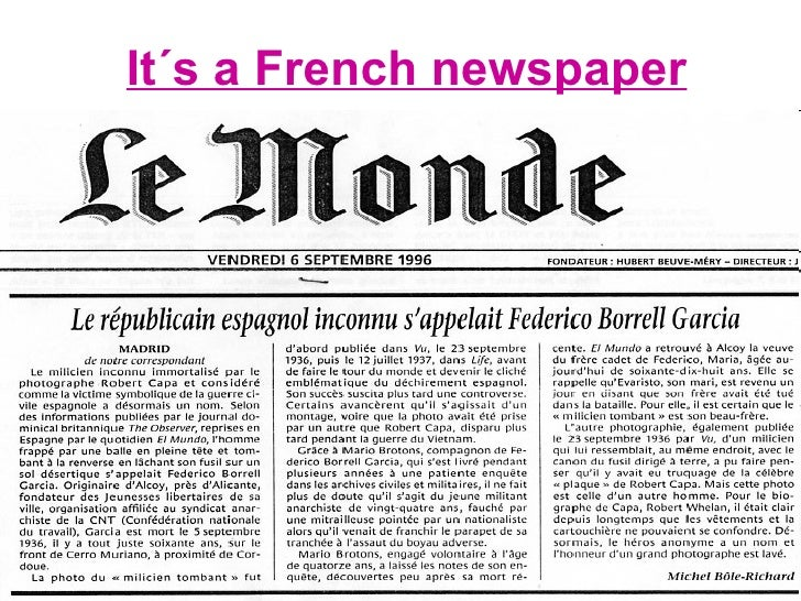 It´s a French newspaper
