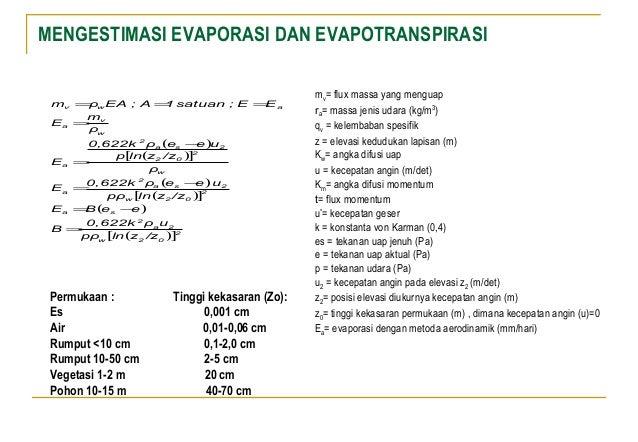 Evaporasi Transpirasi Evapotranspirasi