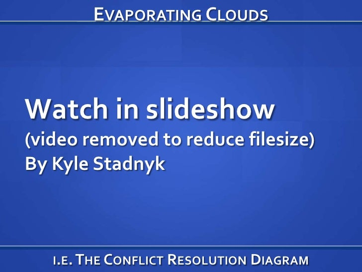 Evaporating Clouds<br />Watch in slideshow<br />(video removed to reduce filesize)<br />By Kyle Stadnyk<br />i.e. The Conf...