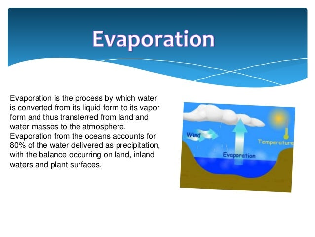 liquid and evaporation Vaporization (or vaporisation) of an element or compound is a phase transition from the liquid phase to vapor there are two types of vaporization: evaporation and.