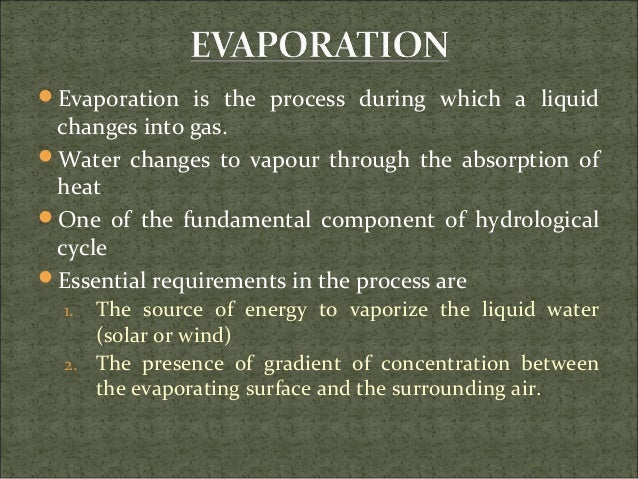 evaporation and transpiration notes Evaporation, transpiration and condensation, water, class 6 - the changing of water into water vapour is called evaporation the loss of water from plants as water vapour through the pores of their leaves is called transpiration.