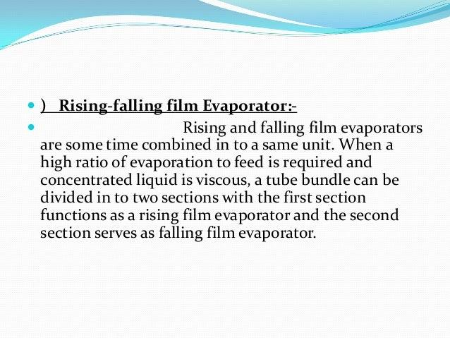 Evaporators.
