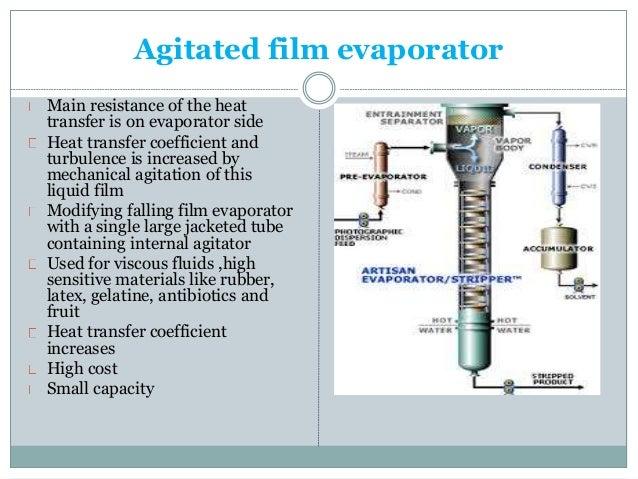 Evaporators and evaporation under reduce pressure.