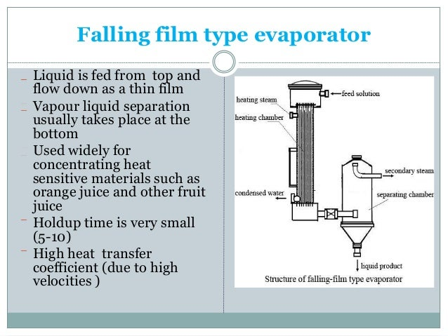 Evaporators and their methods.