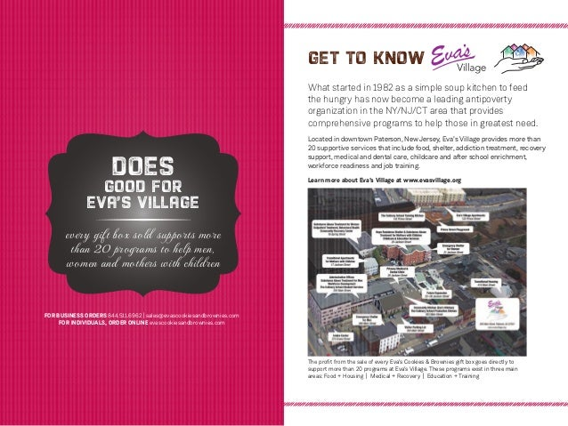 Eva'S Cookies And Brownies Sales Brochure