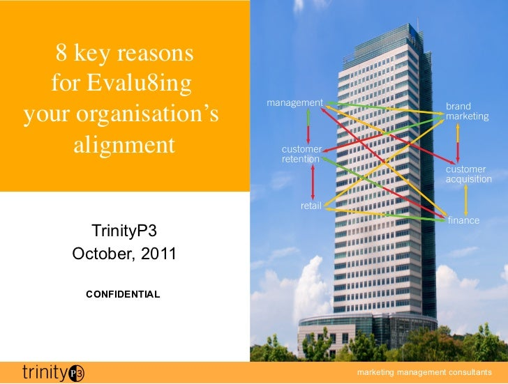 8 key reasons  for Evalu8ing your organisation's     alignment	      TrinityP3    October, 2011      CONFIDENTIAL         ...