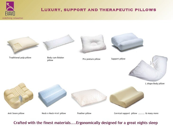 14 luxury support and therapeutic pillows
