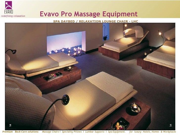 Evavo Spa Range Equipment n Accessories
