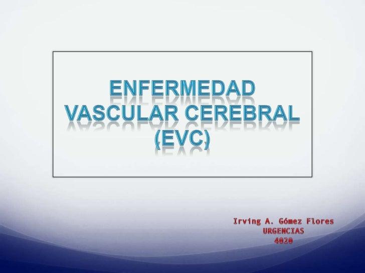 La Enfermedad Vascular Cerebral (EVC) es una alteración    neurológica, se caracteriza por su aparición brusca,    general...