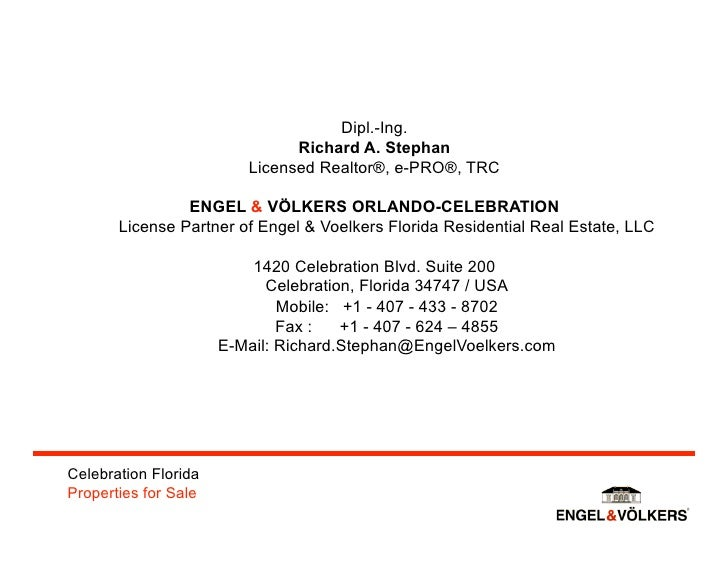 Engel & Voelkers Celebration Agent in German TV